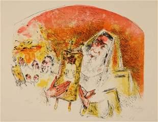 Chaim Gross - Rabbi with Scrolls