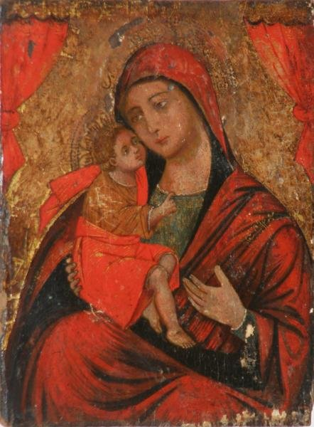 17: Unknown - Madonna and Child Icon