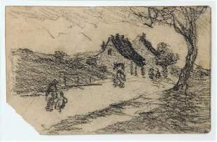 Robert Henri - Along the Village Road