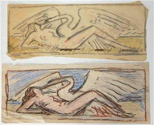 Wilhelm Hunt Diederich - Leda and the Swan--In Yell