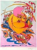 Peter Max - Untitled--Woman of Heart