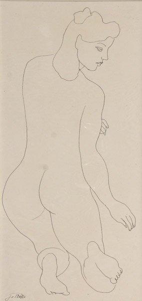 108: Jo Rollo - Nude Woman Kneeling
