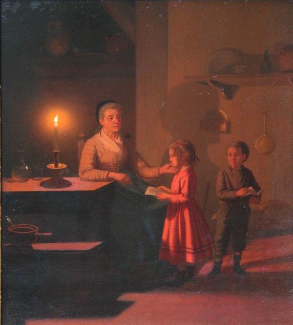 116: attrib. Johann Mongels Culverhouse - Reading by Ca