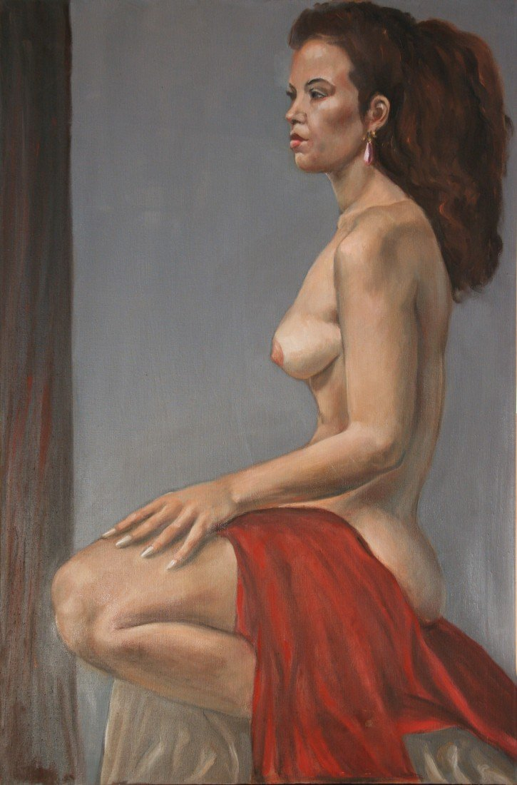 9: Female Nude with Pink Earring