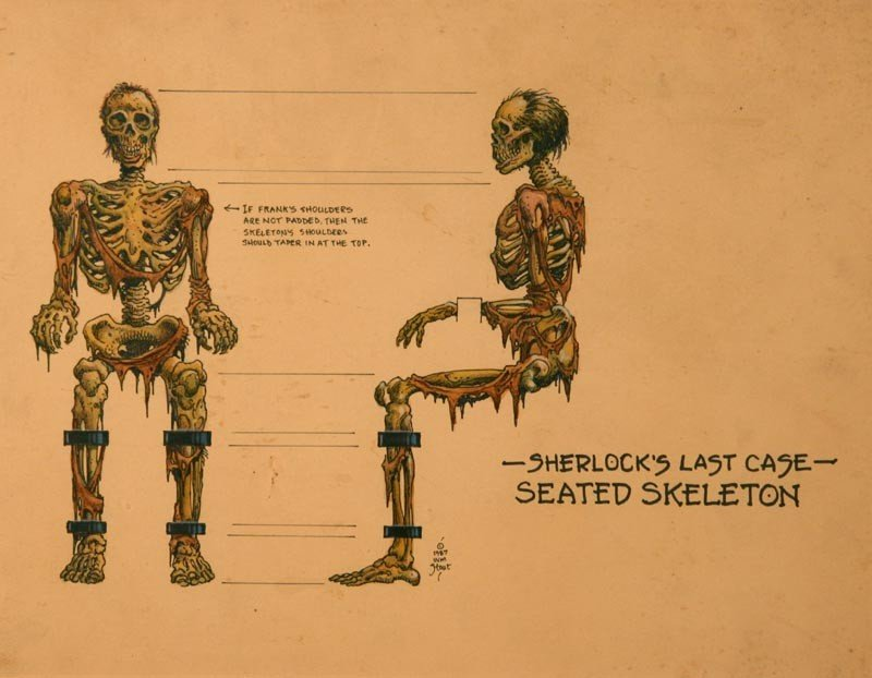 20: Sherlock's Last Case, Seated Skeleton