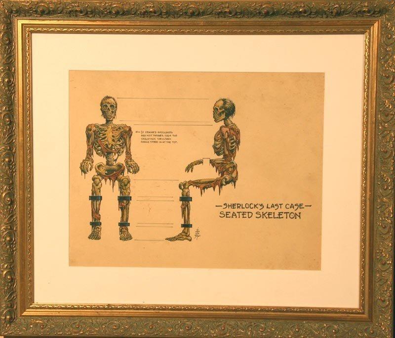 20: Sherlock's Last Case, Seated Skeleton - 2