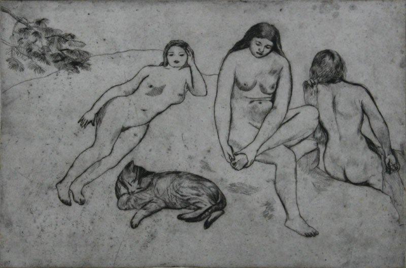 Rosella Hartman, Three Women and Cat