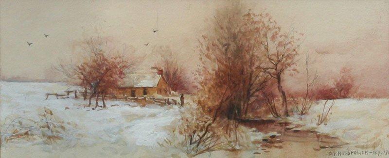 Dubois Fenelon Hasbrouck, Winter Landscape