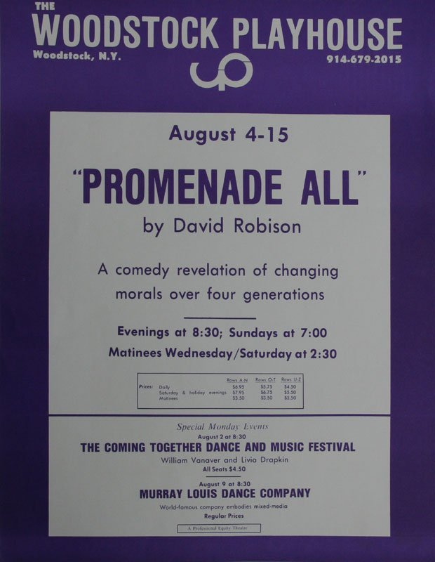 A. & B. Unknown, Two Woodstock Playhouse Posters - 2
