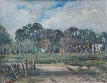 Zulma Steele, Country Scene in the Style of Pissaro