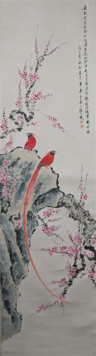 A Yan bolong's flowers and birds painting