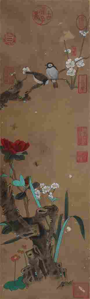 A  flowers and birds painting