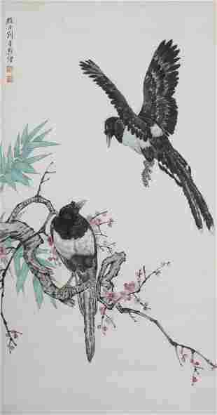 A Liu kuiling's flowers and birds painting