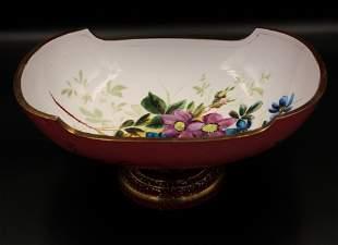Cased Adventurine decorated Victorian Brides Bowl