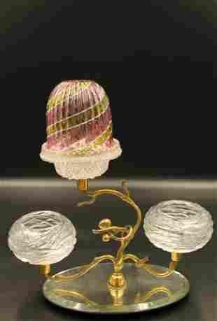 Victorian Rainbow Fairy Lamp Sociable Cut Centerpiece