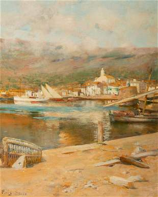 "JOAN ROIG SOLER (Barcelona, 1852-1909). ""View of"