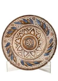 Ceramic plate from Manises. Century XVI. Ceramic plate