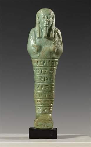 Ushabti. Egypt, Dynasty XXVII (525-401 BC). Green