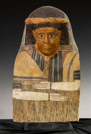 Romano-Egyptian cardboard, representing a lady.  Egypt,