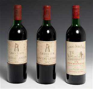 Two Château Latour Grand Vin vintage 1970 bottles and