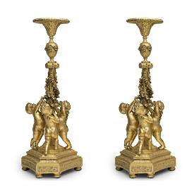 Pair of torcheros, Louis XVI style, Napoleon III