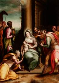 """GUIROMALO LUCENTI (fl. 1602–1624).  """"The Adoration of"""