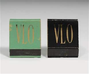 VIVIEN LEIGH. Two DUNHILL brand flat matchboxes.