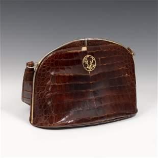 VIVIEN LEIGH. Handbag, 1950s. Alligator skin and