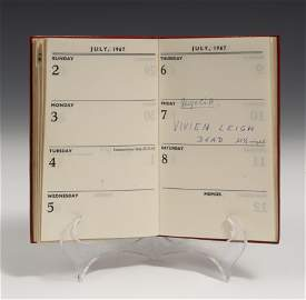 VIVIEN LEIGH.  Vivien Leigh's personal diary from 1967,