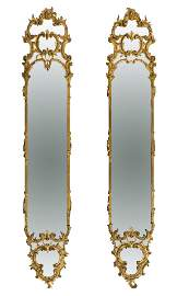 Pair of mirrors Louis XV. France, mid-18th century.