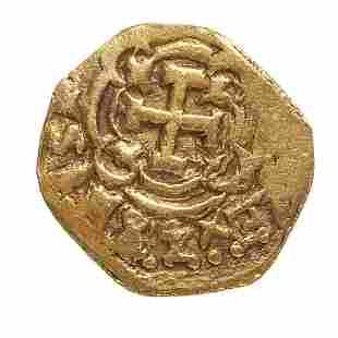 Macuquina ounce coin of 8 escudos of Fernando VI, 1747,
