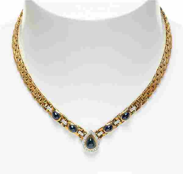 Choker in 18kt yellow gold CARTIER style.