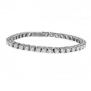 Rivière bracelet in 18 kt white gold