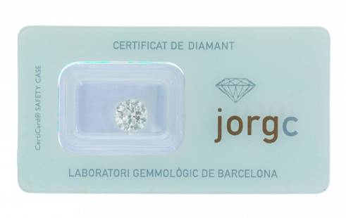 Natural diamond, H color, P1 clarity