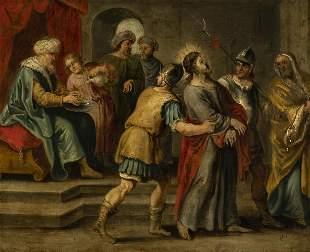 "Flemish school from the mid-17th century. ""Jesus"