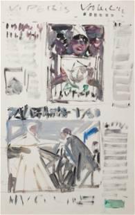 "VICENTE PERIS MARCO (Valencia, 1943). ""Newspaper. Oil"