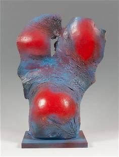 ACISCLO MANZANO (Orense, 1940). Untitled. Polychrome