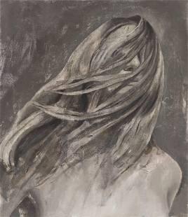 "JAVIER ARTICA (Pamplona, 1984). ""Air"", 2021. Oil on"