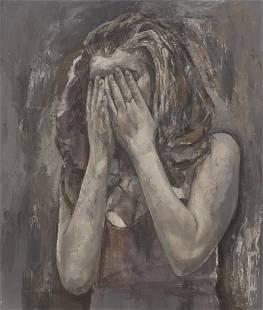 """JAVIER ARTICA (Pamplona, 1984). """"A.W"""", 2021. Oil on"""