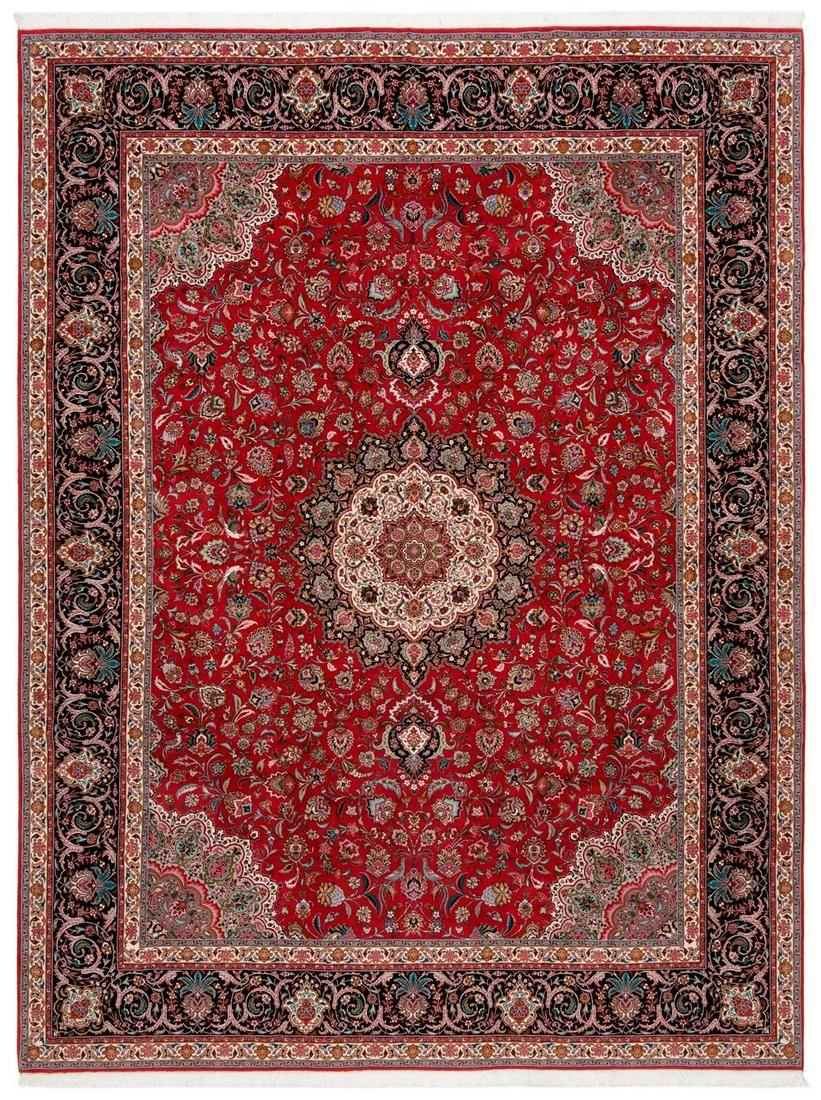 Tabriz carpet; Persia-Iran, 20th century. Wool and