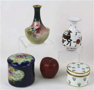 FINE HAND PAINTED SIGNED PORCELAIN GROUPING