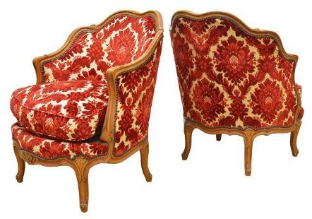 FRENCH LOUIS XV STYLE FRUITWOOD BERGERES
