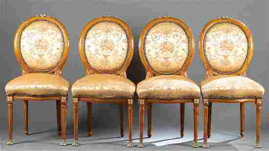 4 Louis XVI style dining chairs, 20th century