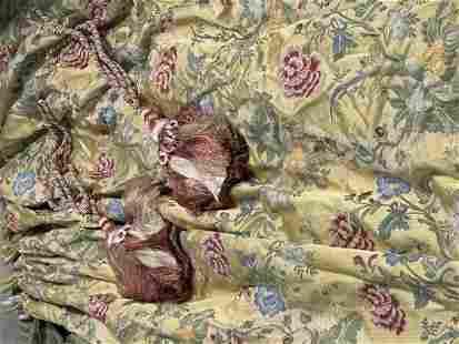 1 Pair Floral Pattern Silk Draperies