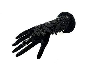 Black Lace Bracelet and Ring Accent