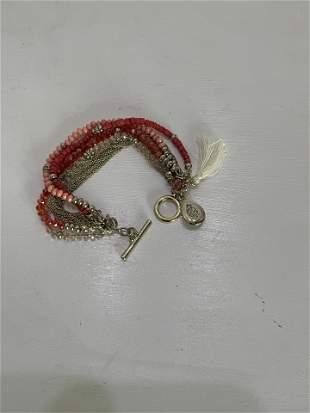 Multi-Strand Beaded Bracelet in Pink