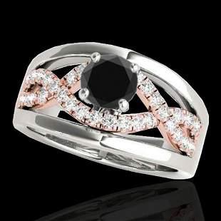 1.3 ctw Certified VS Black Diamond Solitaire Ring