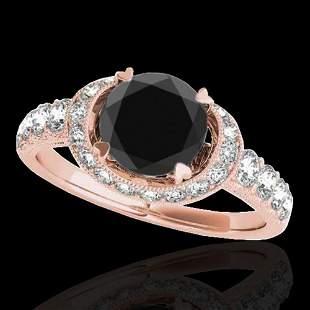 1.75 ctw Certified VS Black Diamond Solitaire Hal