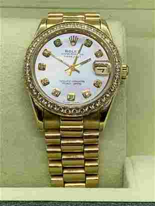 18kt Yellow Gold Ladies 30mm Presidential Rolex