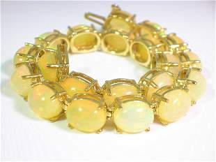 Rare 25 CT Ethiopian Opal Bracelet